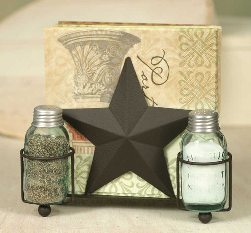 Star Salt Pepper and Napkin Caddy - Cakra Ardor
