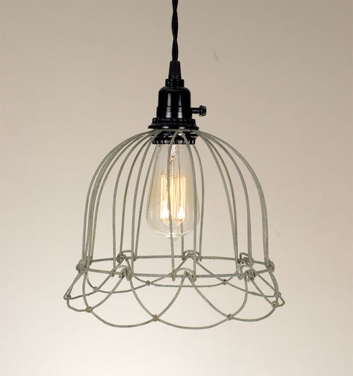 Small Wire Bell Pendant Lamp - Barn Roof - Cakra Ardor
