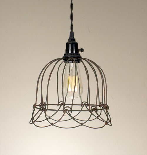 Small Wire Bell Pendant Lamp - Cakra Ardor