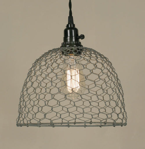 Chicken Wire Dome Pendant Light - Barn Roof - Cakra Ardor