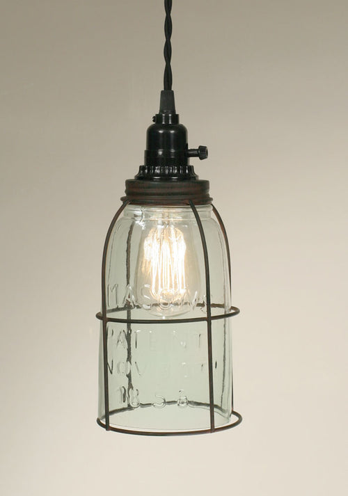 Half Gallon Caged Mason Jar Pendant Lamp - Cakra Ardor