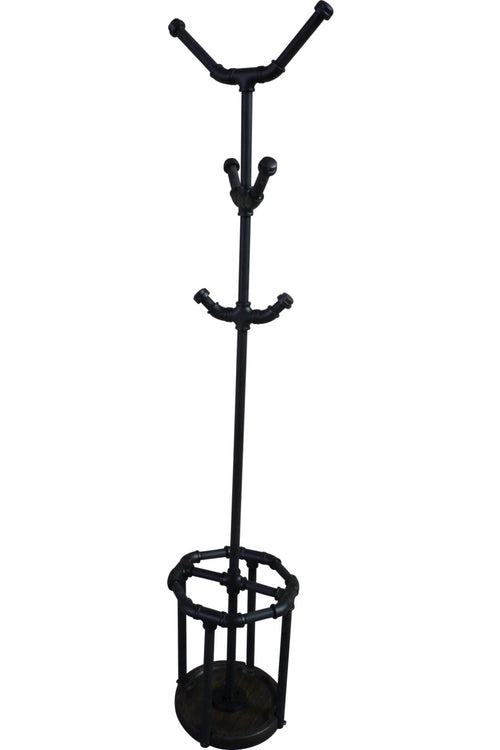 San Antonio Industrial Chic Coat Rack - Cakra Ardor