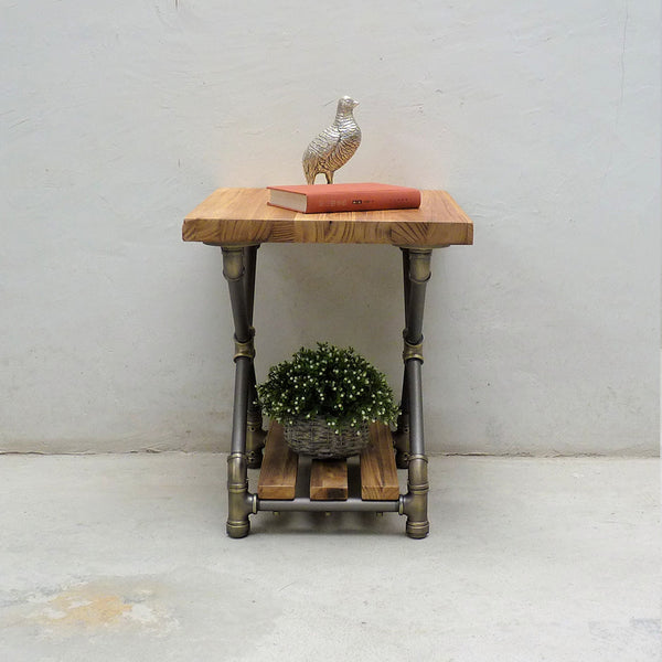 Houston Industrial Chic Side Table - Cakra Ardor