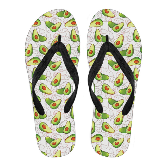 75 Cool Foot And Flip Flop Tattoos: Cool Avocado Pattern Bath Robe (Women)