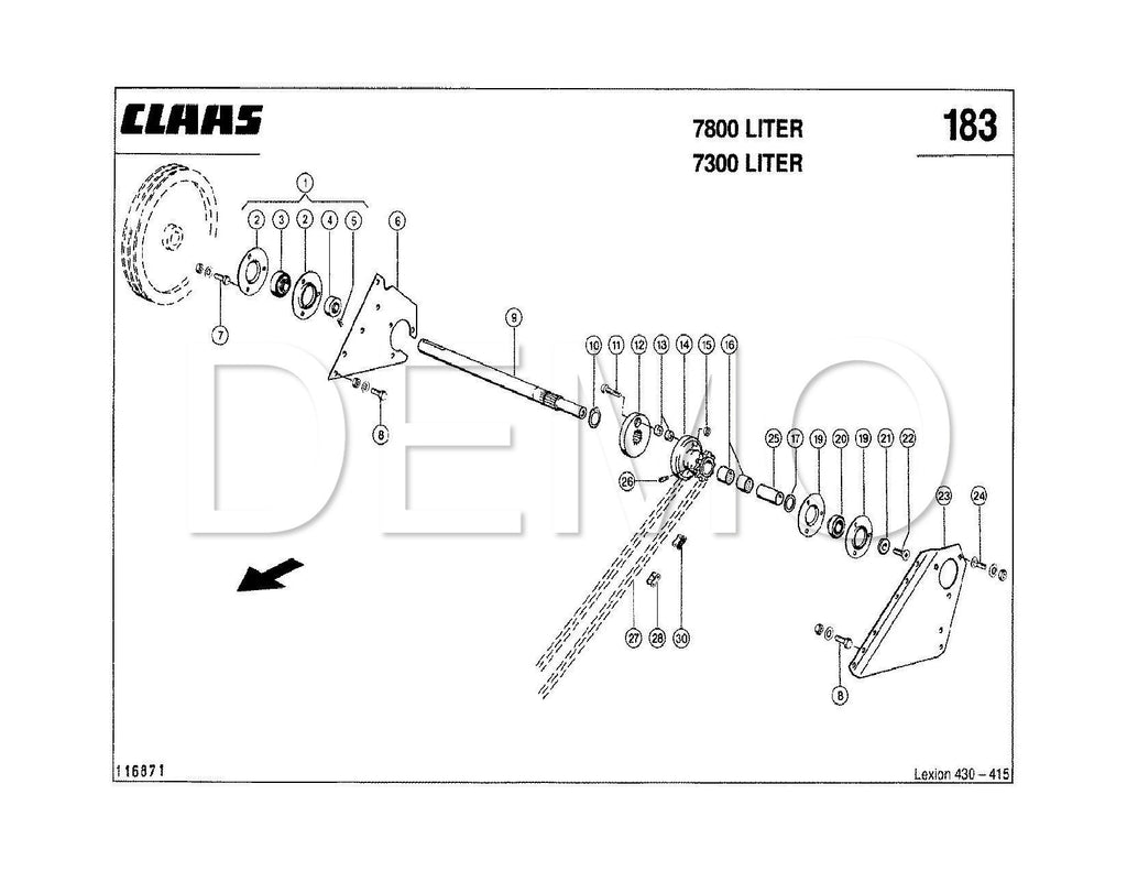 Claas Dominator 48 Parts Catalogue, Spares List, Manual