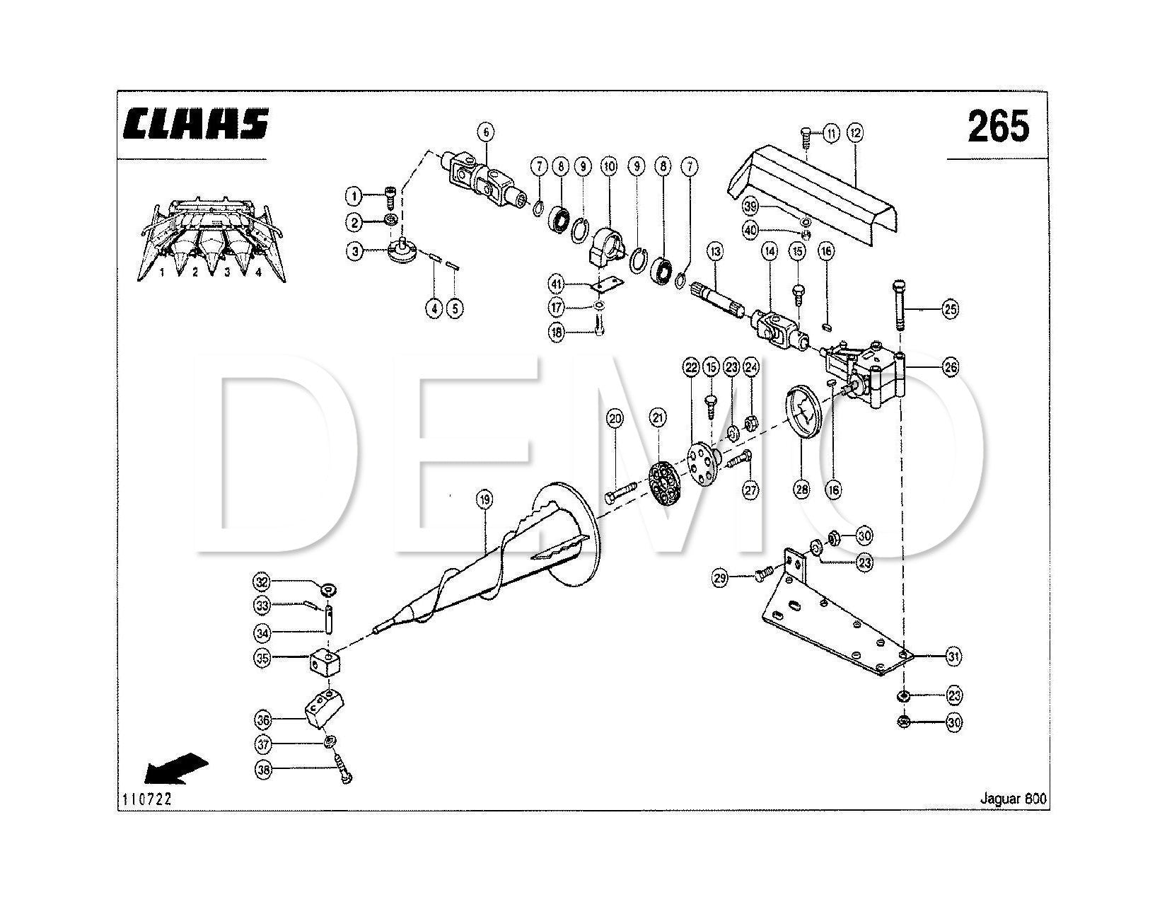 Claas Jaguar 800 Parts Catalogue, Spares List, Manual PDF