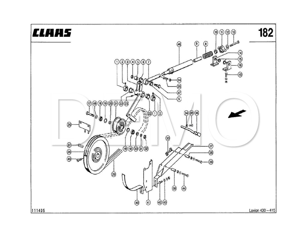 Claas Lexion 570 Parts Catalogue, Spare Parts List, Manual