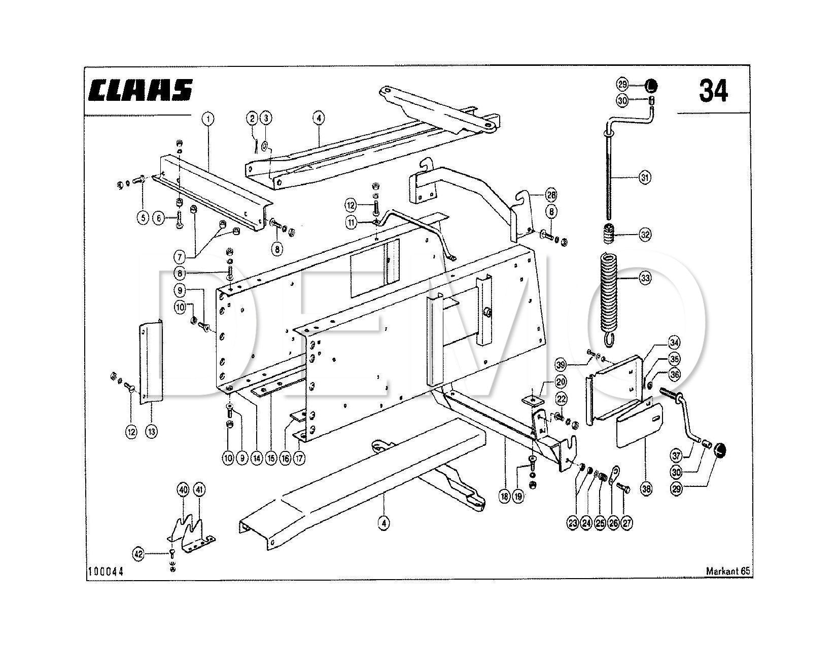Claas Markant 55 Parts Catalogue, Spares List, Manual PDF