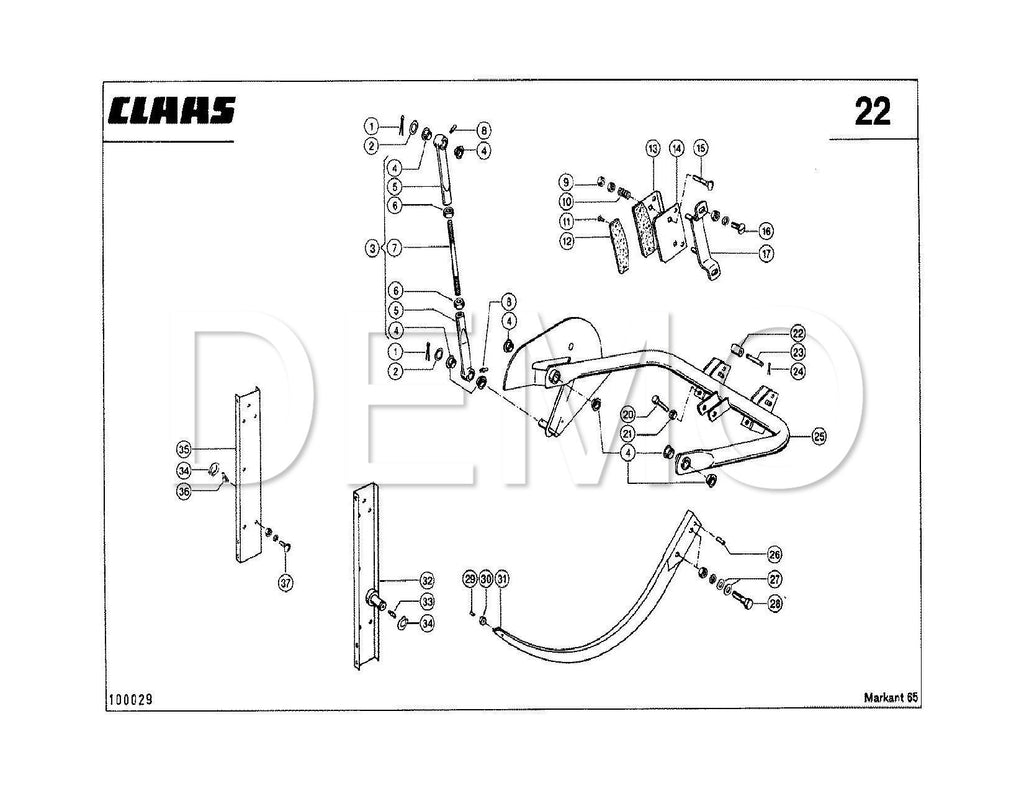 Claas Markant 65 Parts Catalogue, Spares List, Manual PDF