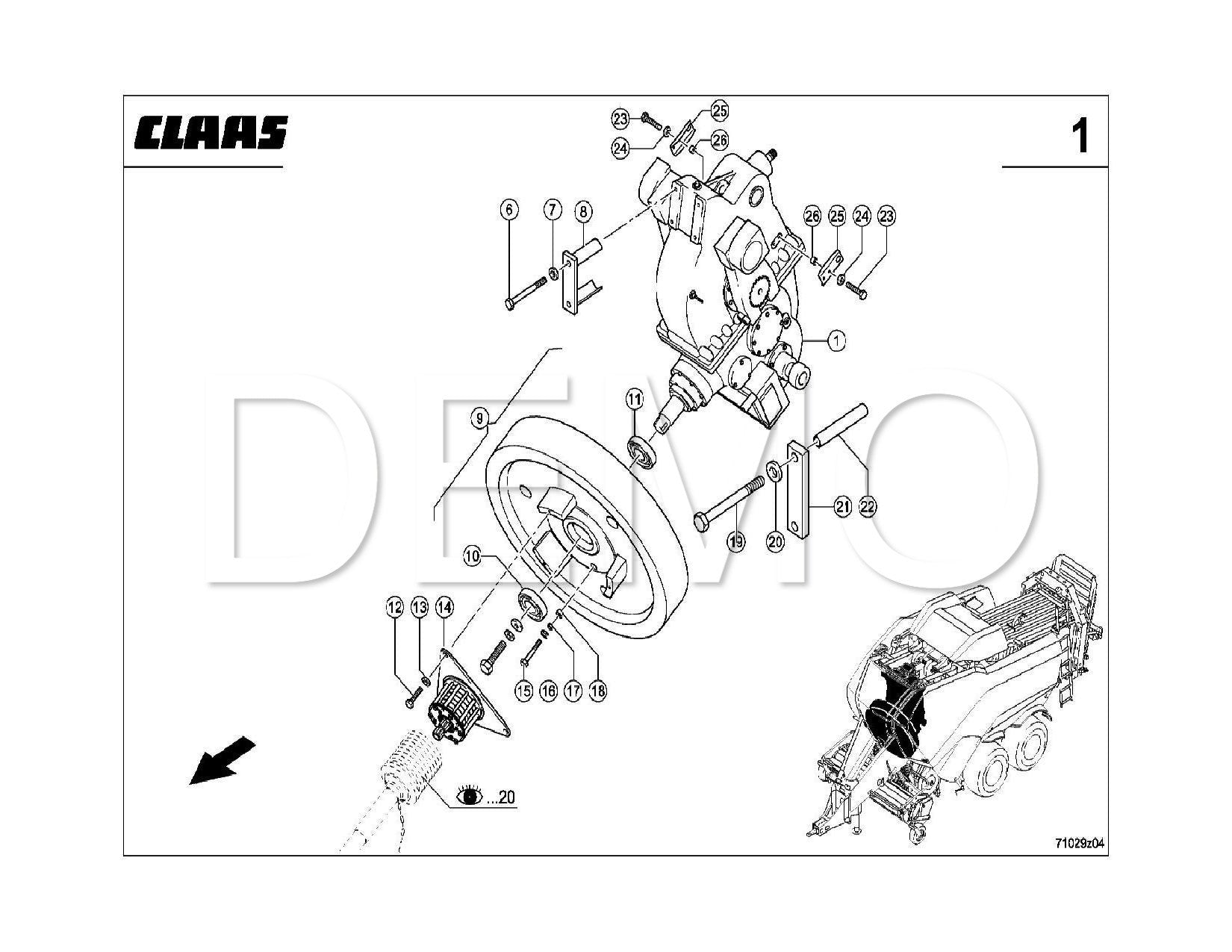 Claas Quadrant 1200RC Parts Catalogue Spares Manual PDF