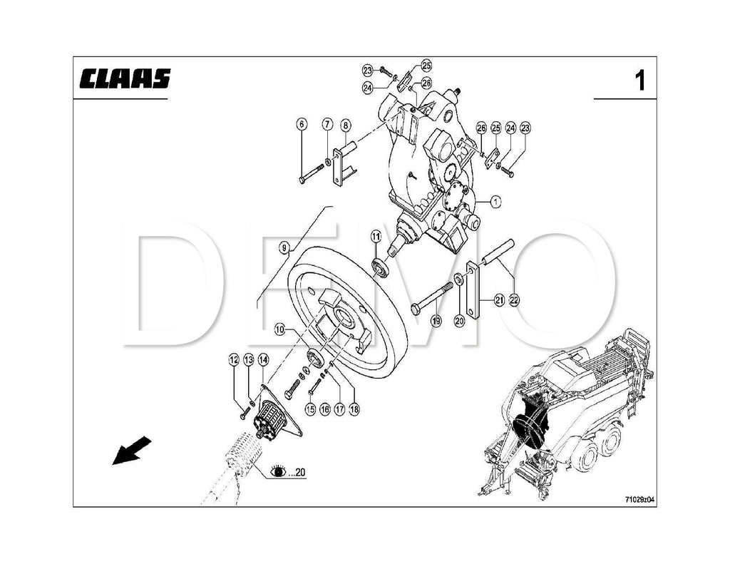 Claas Quadrant 1150 Parts Catalogue, Spares List, Manual