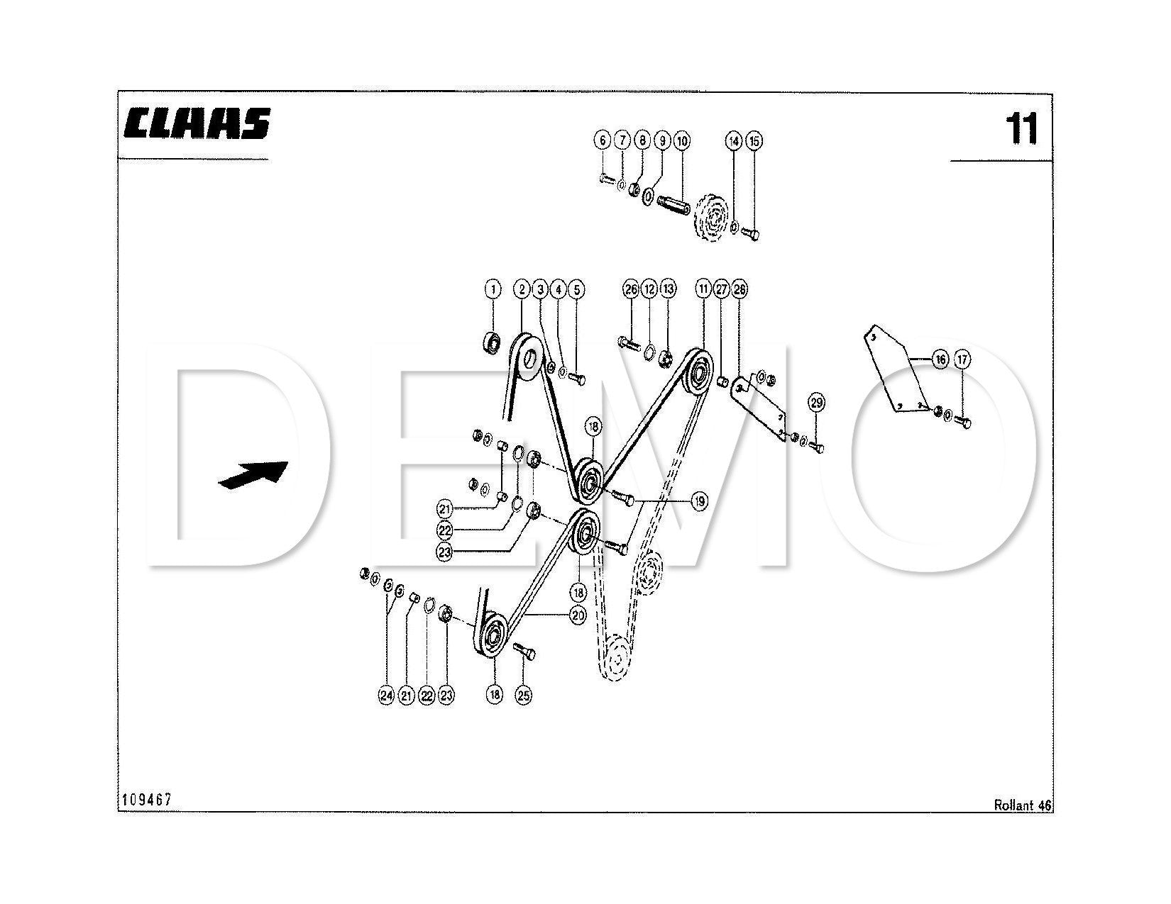 Claas Rollant 44 Parts Catalogue, Spares List Manual PDF