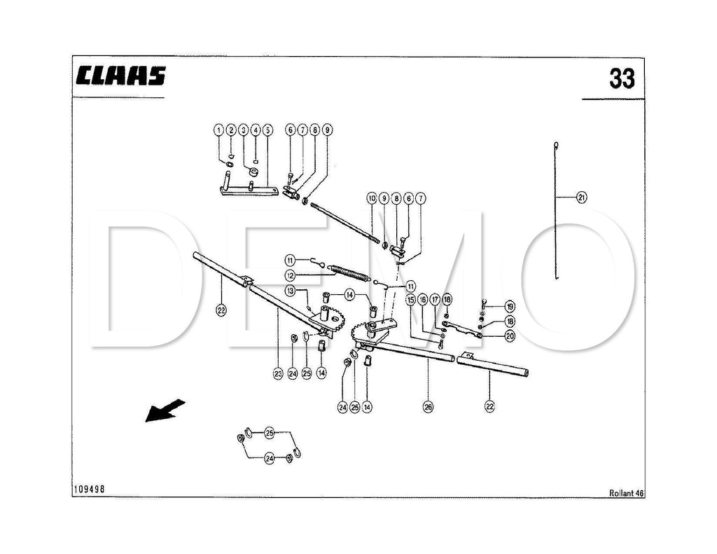 Claas Rollant 62 Parts Catalogue, Spares List Manual PDF