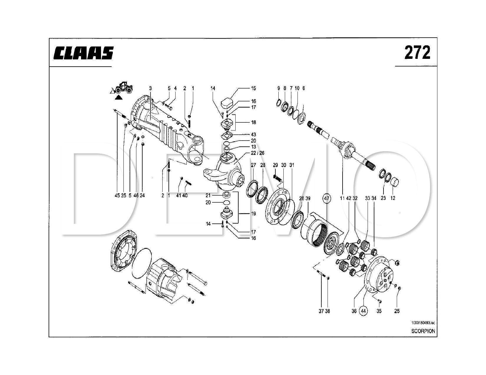 Buy Claas Scorpion 7040 Parts Catalogue, Spares Manual