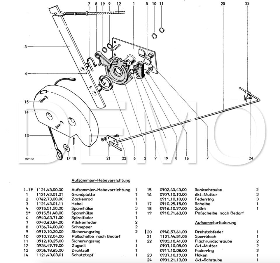 Welger RP220 Parts Catalogue, Spare Parts List, Manual