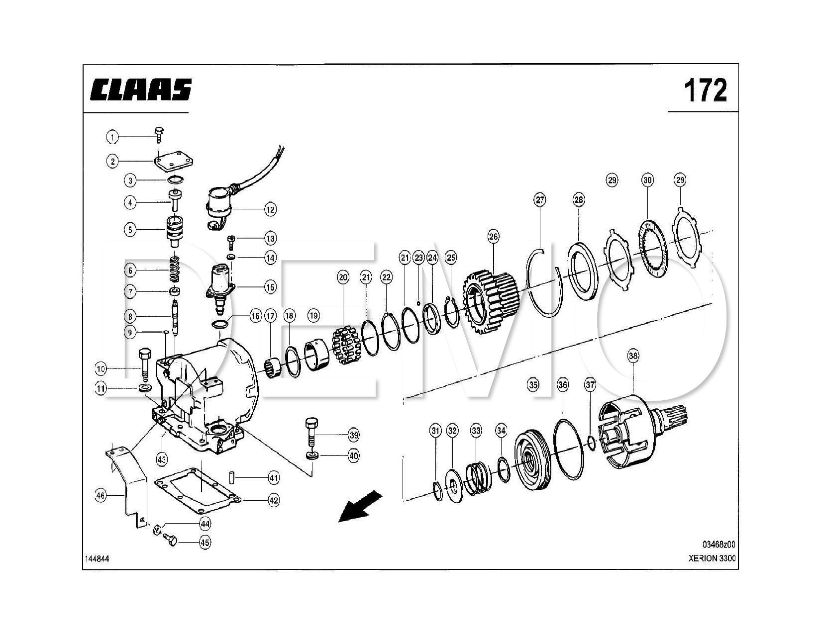 Claas Xerion 2500/3000 Parts Catalogue, Spares List Manual