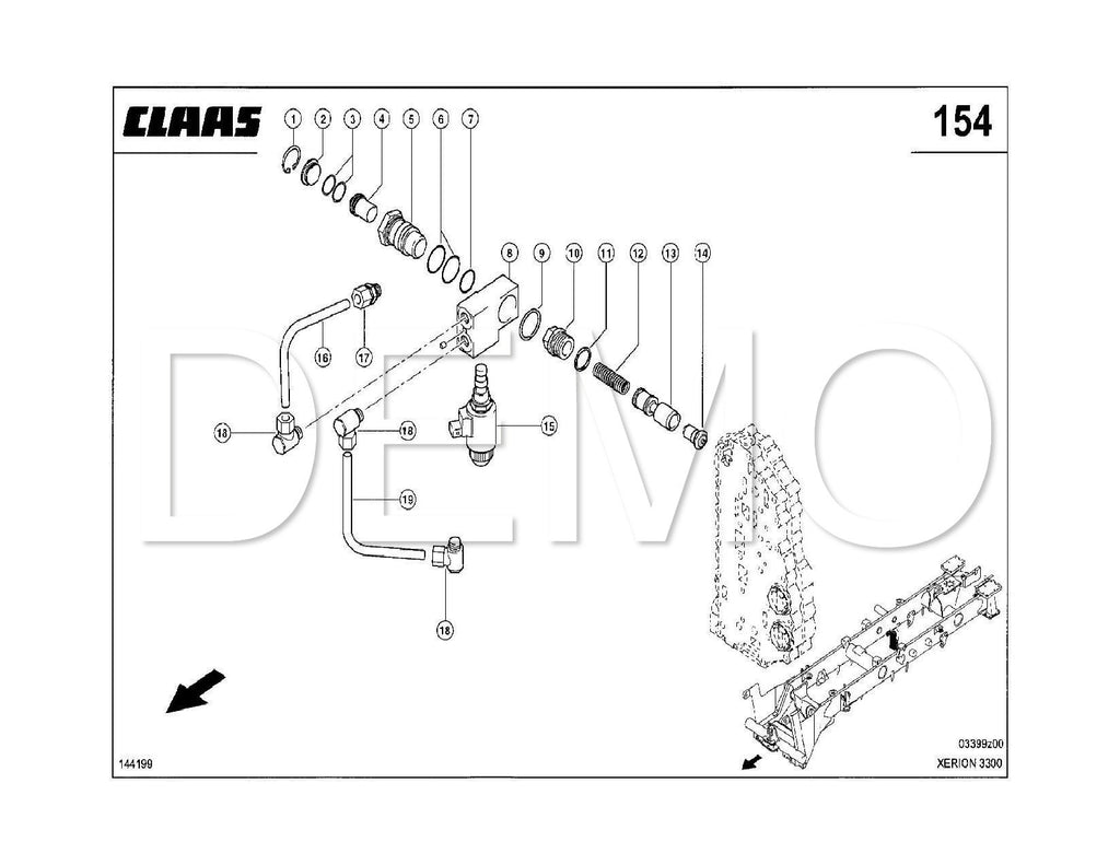 Claas Xerion 3300 Parts Catalogue, Spares List, Manual PDF