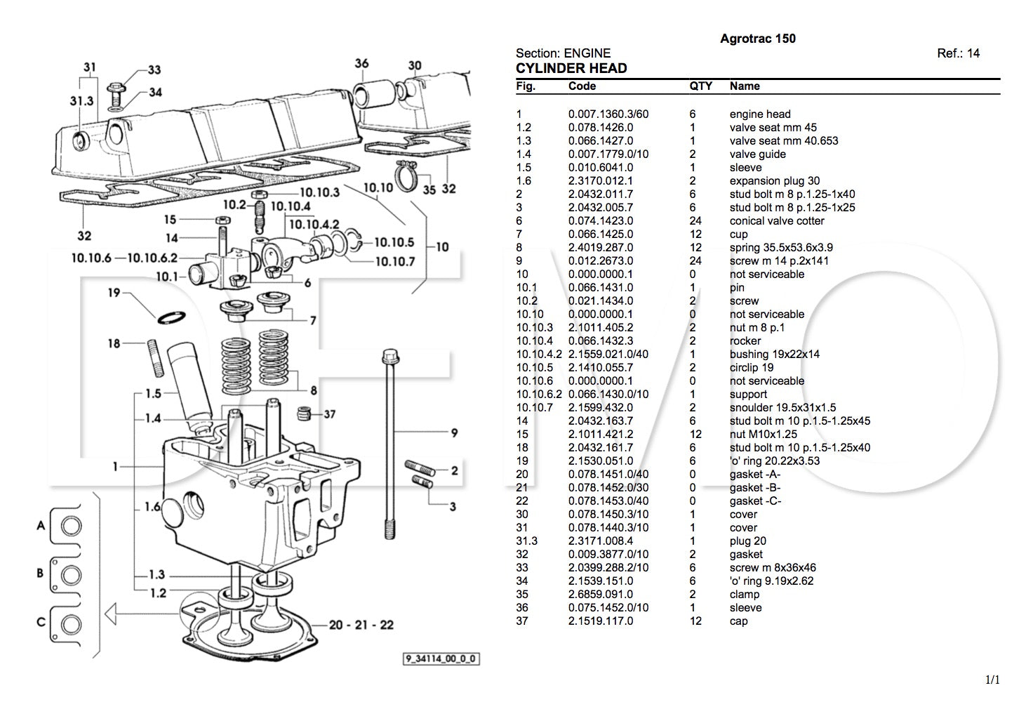 Deutz Fahr Starliner 4040 Parts Catalogue, PDF Manual