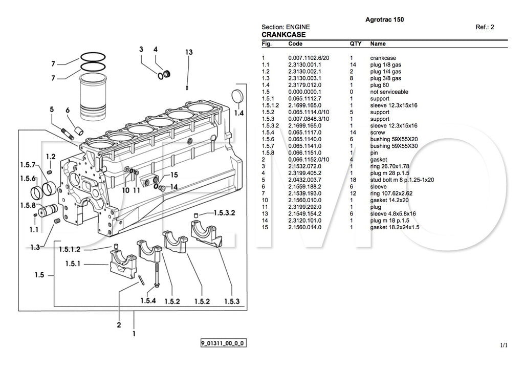 Deutz-Fahr Agroplus 100 Parts Catalogue (PDF) Manual