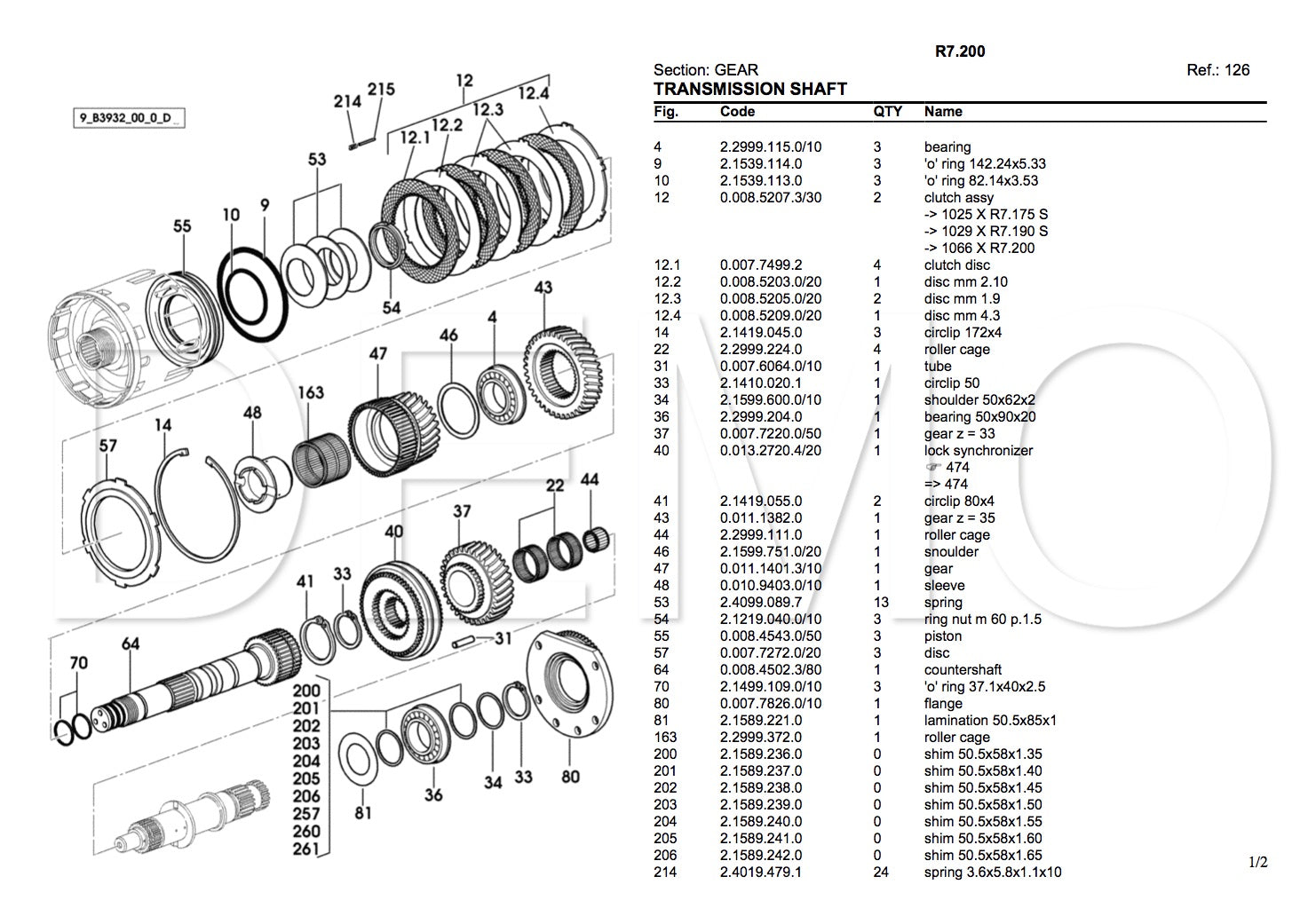 Lamborghini 674-70N Parts Catalogue, PDF Manual, Parts