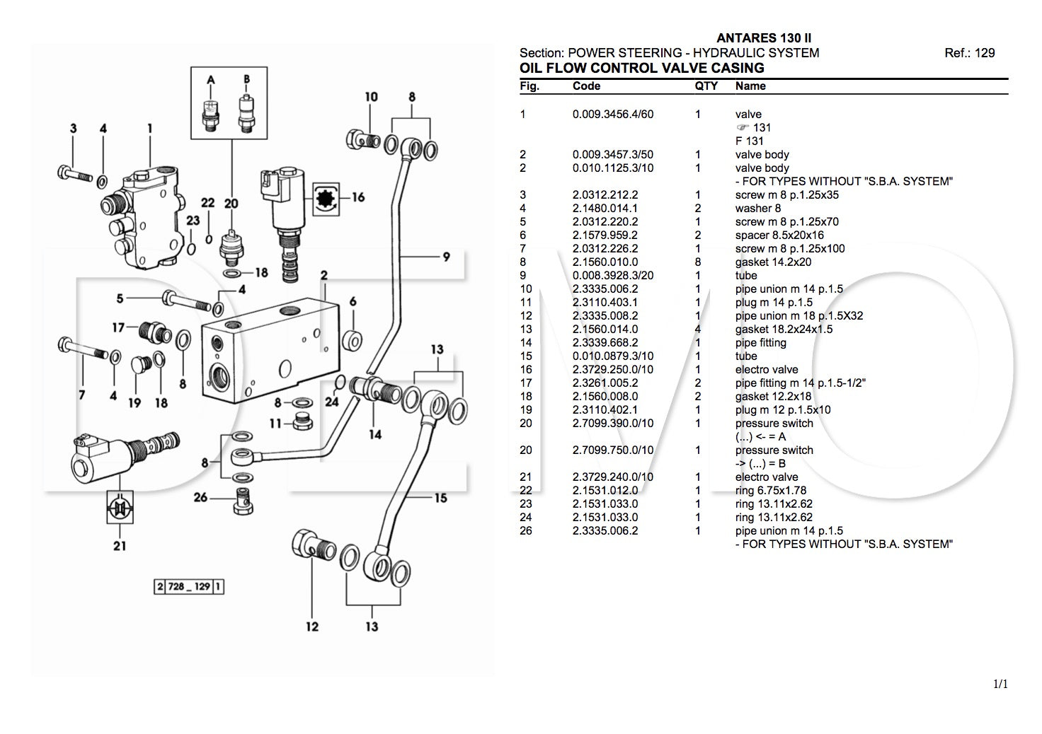 Same Aster 70 Parts Catalogue, PDF Manual, Parts Catalog