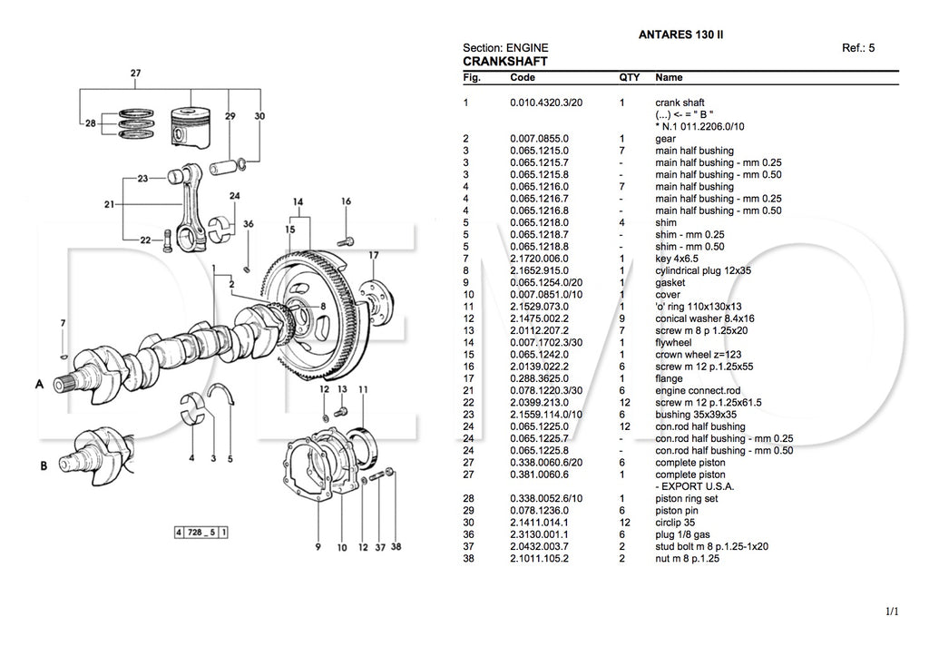 Same Frutteto II 75 Parts Catalogue, PDF Manual, Parts
