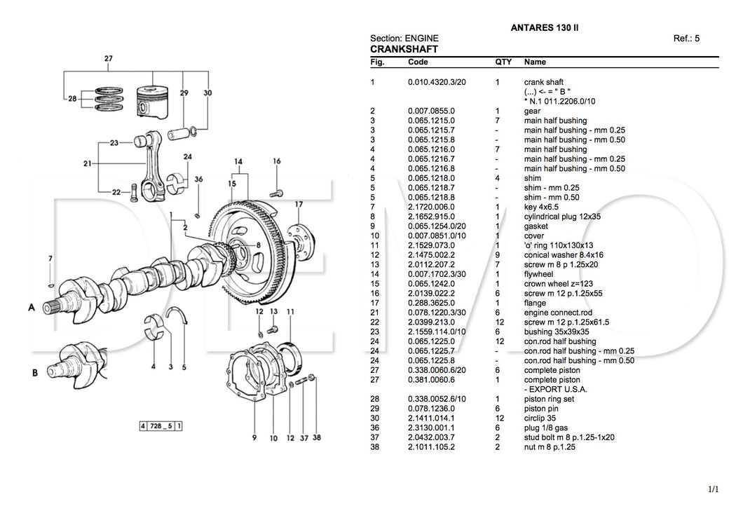 Same Argon 60 Parts Catalogue, PDF Manual, Parts Catalog