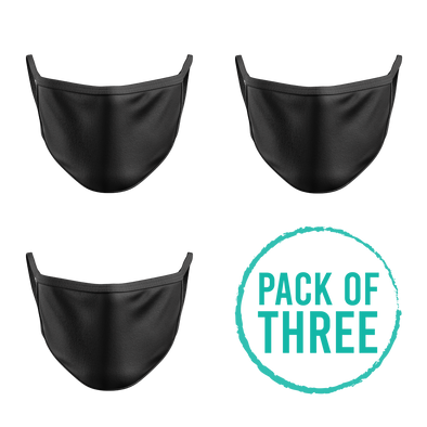 Pack Of Three Mask - Black