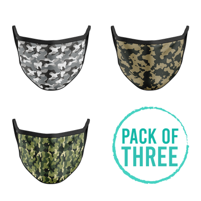 Pack Of Three Mask - Camouflage
