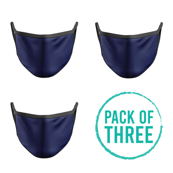 Pack Of Three Mask - Navy