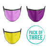 Pack Of Three Mask - Pink, Purple, Yellow