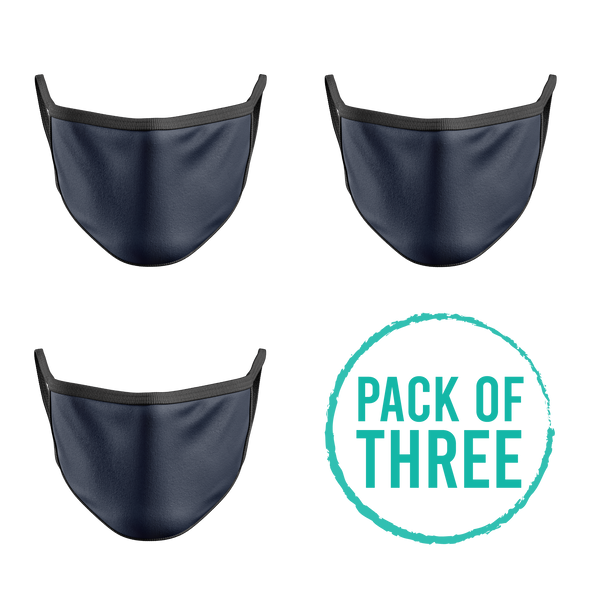 Pack Of Three Mask - Petrol Blue