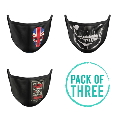 Pack Of Three Mask - Skull