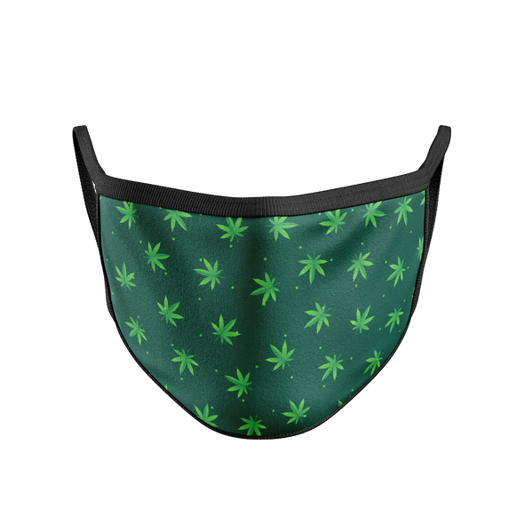 Cotton Face Mask - Weed Doodle