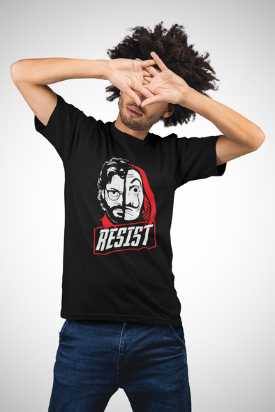 Printed Crew Neck T-shirt : Resist (Pre Order)