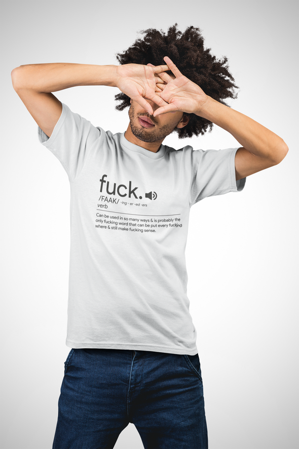 Printed Crew Neck T-shirt : Fuck