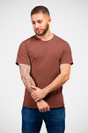 Solid Crew Neck T-shirt : Brick Red