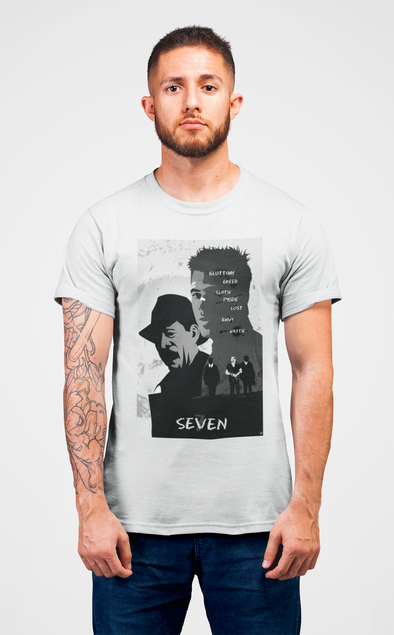 Printed Crew Neck T-shirt - Seven Poster Fan Art