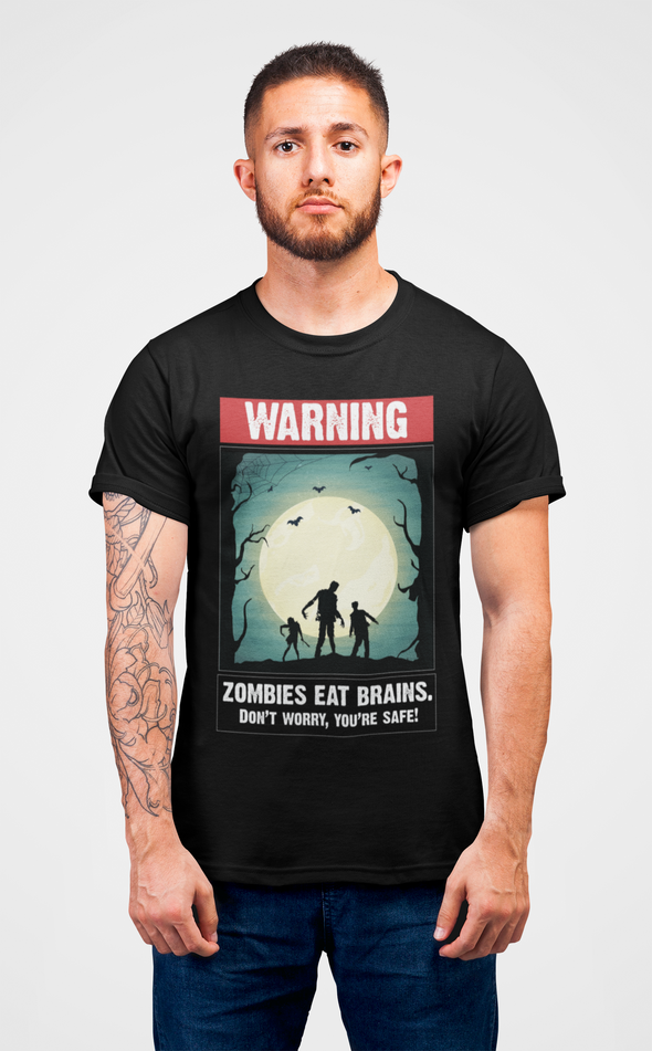 Printed Crew Neck T-shirt : Zombies
