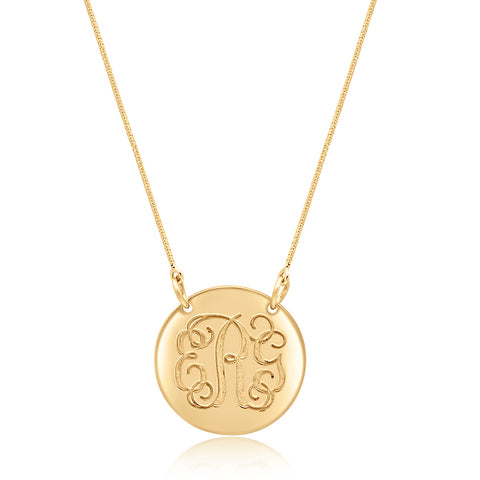 Elianna's Engraved Monogram Necklace