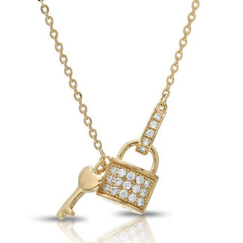 Leisla's Lock and Heart Key Necklace - GNRTN