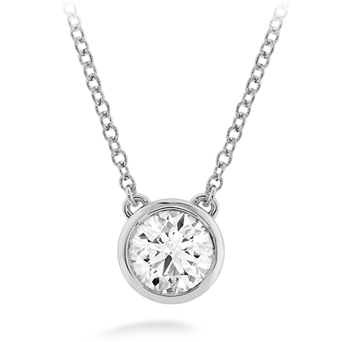 SOLITAIRE BEZEL SET SINGLE STONE NECKLACE - GNRTN