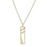 Hensley's Hanging Cutout Streets Necklace