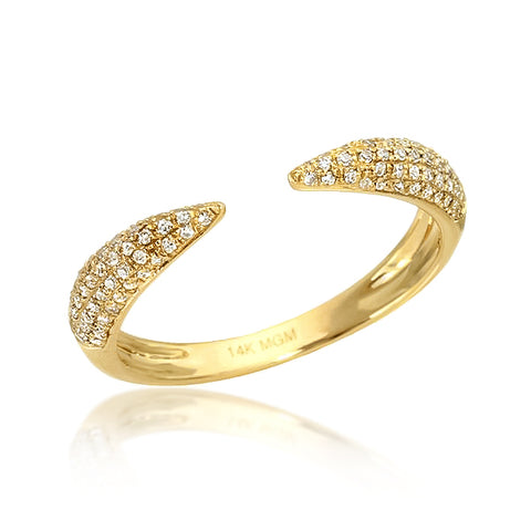 PAVÉ TALON RING