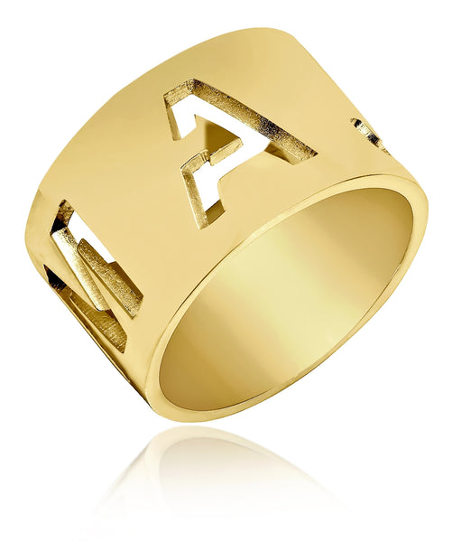 Carri's Cutout Initials Ring