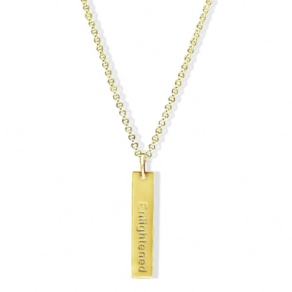 Elaine's Engraved Tag Necklace