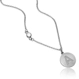 Rylie's Round Serif Necklace with Stone