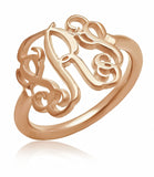 Claire's Cutout Monogram Ring