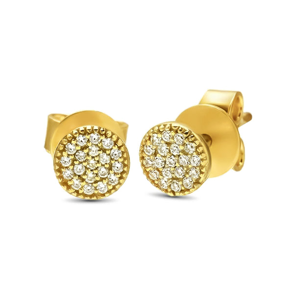 Cecilia's Circle Stud Earrings