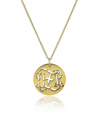 Leslie's Laser Cut Monogram Necklace